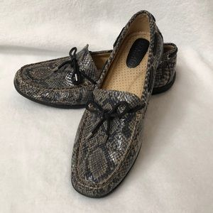 Sperry Top Sider animal print loafers